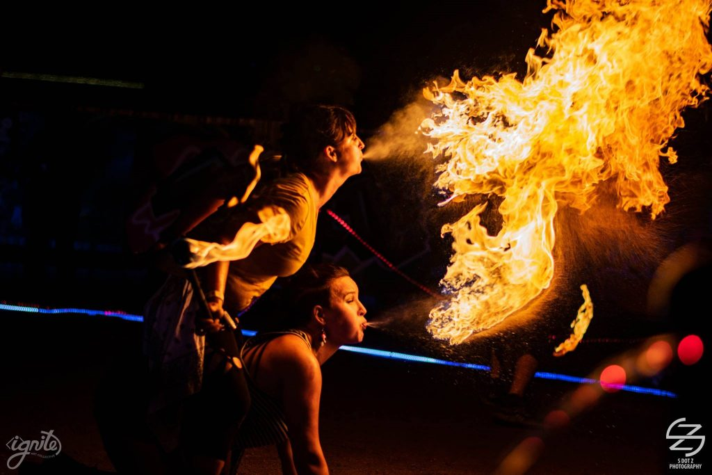 Fire Breathing Fire Performer